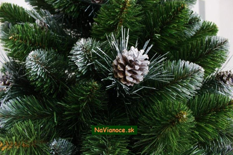 Vianočný stromček Biela Dáma so šiškami - Vianočné stromčeky na ... 6494d774223